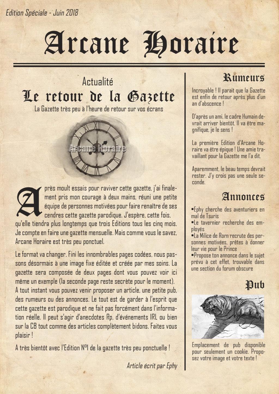 Edition Spéciale